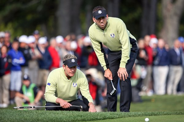 Luke Donald & Sergio Garica Foursomes Ryder Cup 2012