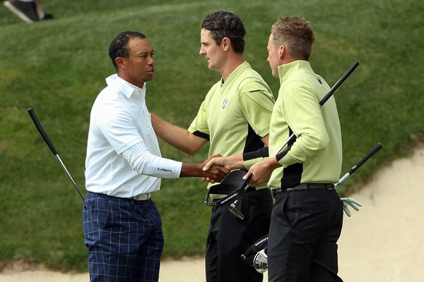 Poulter and Rose beat Woods and Stricker 2012