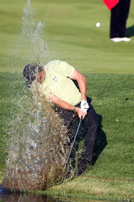 Lee Westwood splash shot Ryder Cup 2012