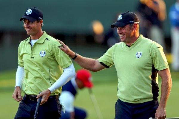 Nicolas Colsaerts and Lee Westwood Ryder Cup 2012