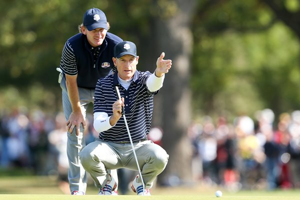 Brandt Snedeker and Jim Furyk Ryder Cup 2012