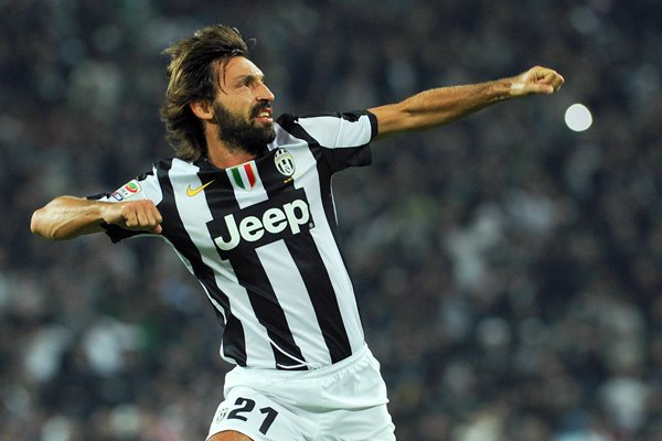 Andrea Pirlo celebrates - Juventus FC v AS Roma