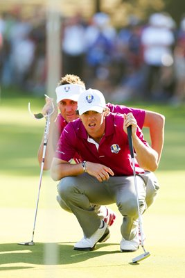 Ian Poulter and Rory McIlroy Ryder Cup 2012