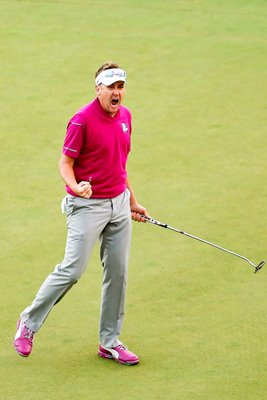 Ian Poulter celebrates Ryder Cup 2012