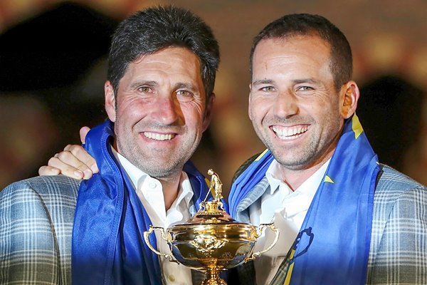Jose Maria Olazabal and Sergio Garcia Ryder Cup 2012