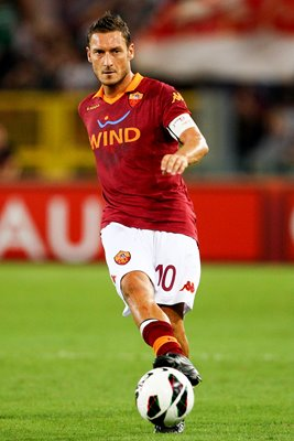Francesco Totti of AS Roma in action