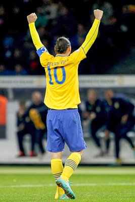 Zlatan Ibrahimovic Sweden celebration