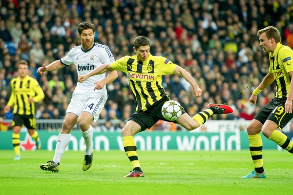 Robert Lewandowski Borussia Dortmund v Real Madrid