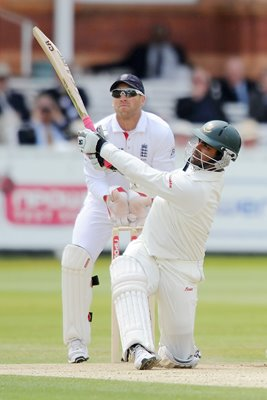 Tamin Iqbal hits a 6 en route to 103 - Lord's 2010