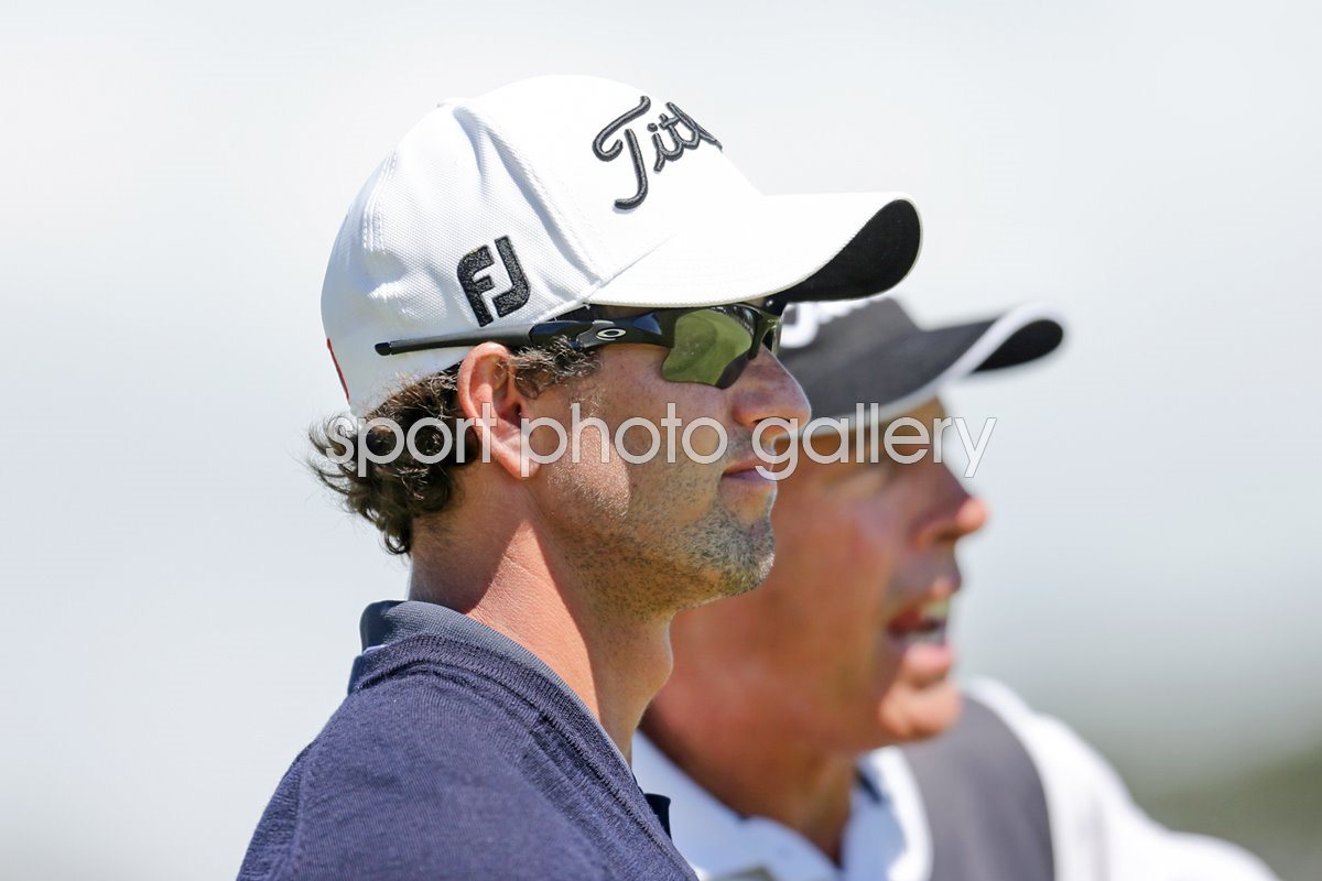 Adam Scott & Caddie Steve Williams Australian Masters 2012