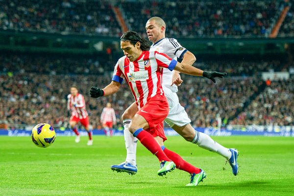 Falcao - Real Madrid CF v Club Atletico de Madrid