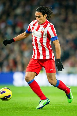 Falcao of Atletico Madrid v Real Madrid