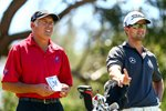 Adam Scott & Caddie Steve Williams Australian Open 2012 Acrylic