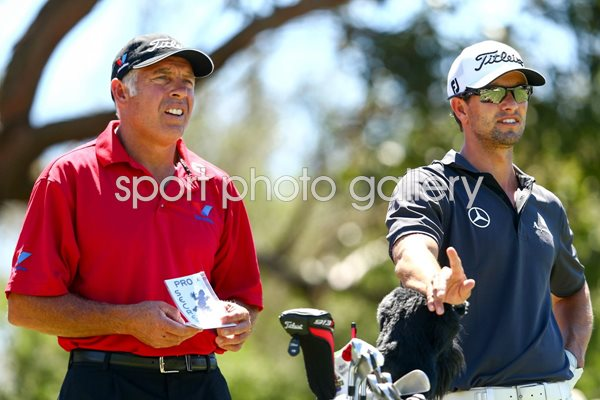 Adam Scott & Caddie Steve Williams Australian Open 2012