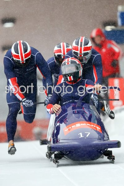 Great Britain Four Man Bobsleigh Team Germany 2012