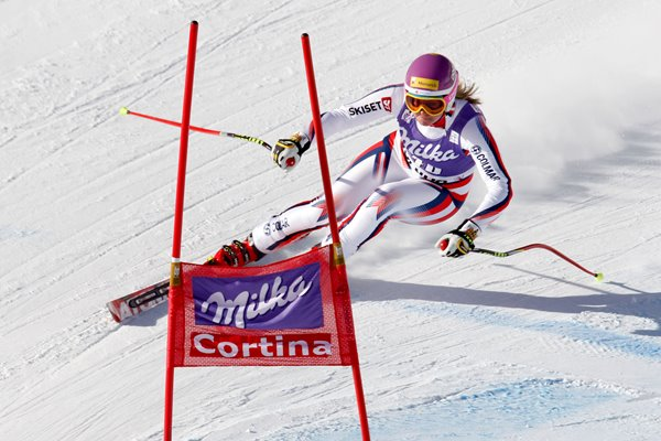 Chemmy Alcott Downhill World Cup Italy 2013
