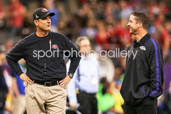 Jim and John Harbaugh Super Bowl Head Coaches 2013