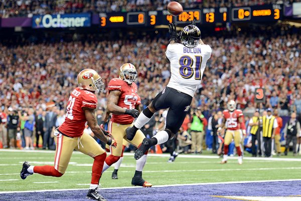 Anquan Boldin Baltimore Ravens Super Bowl Touchdown 2013