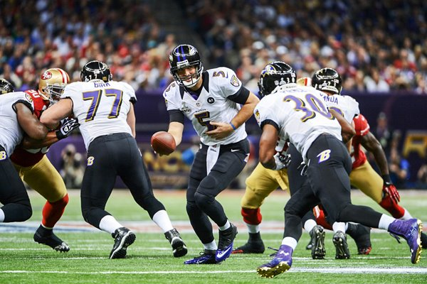 Joe Flacco Baltimore Ravens attack Super Bowl 2013