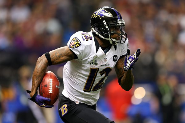 Jacoby Jones Baltimore Ravens 108 yard touchdown Super Bowl 2013