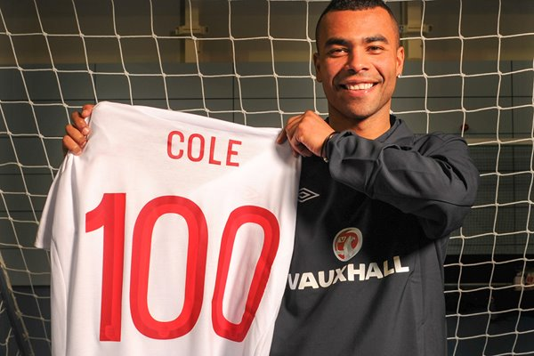 Ashley Cole wins 100th England Cap - Wembley 2013