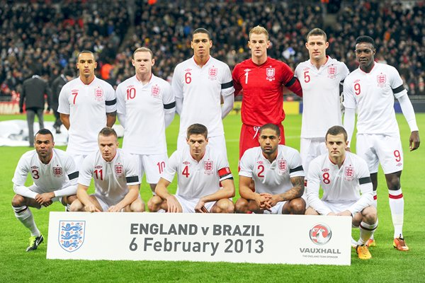 England team v Brazil Wembley 2013