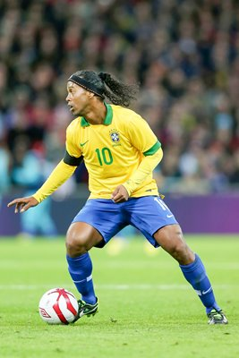 Ronaldinho 100th Cap for Brazil v England Wembley 2013