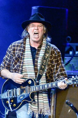 Neil Young on stage 2013