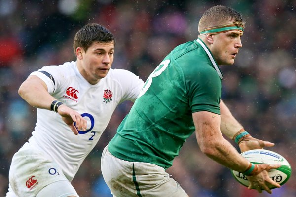 Ben Youngs England lines up Jamie Heaslip Dublin 2013