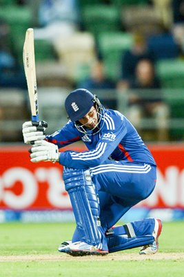 Joe Root Scoop Shot v New Zealand ODI Napier 2013