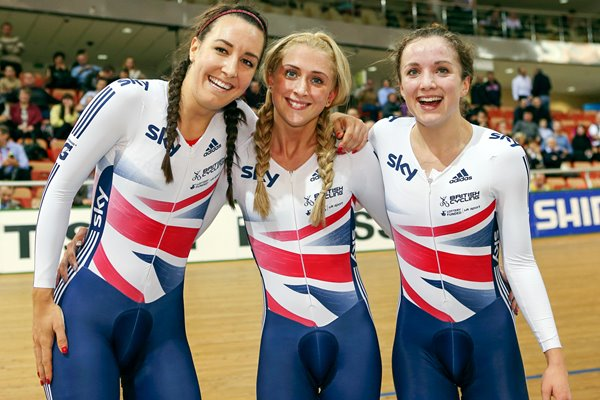 Dani King, Laura Trott and Elinor Barker World Champions 2013