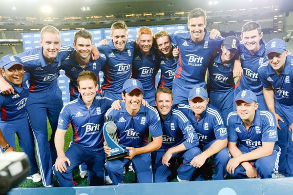 England ODI Series winners v New Zealand 2013
