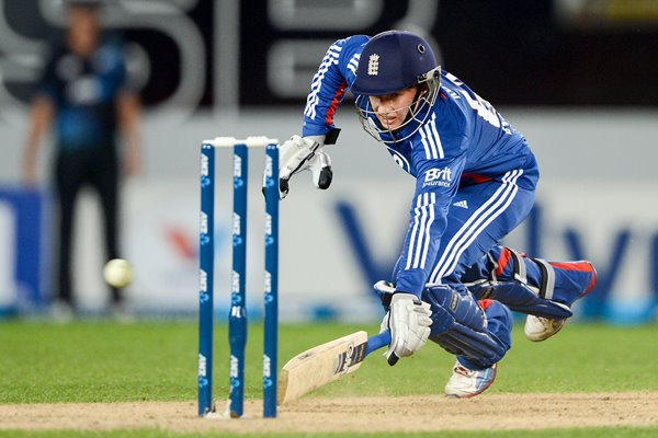 Joe Root England v New Zealand ODI Auckland 2013