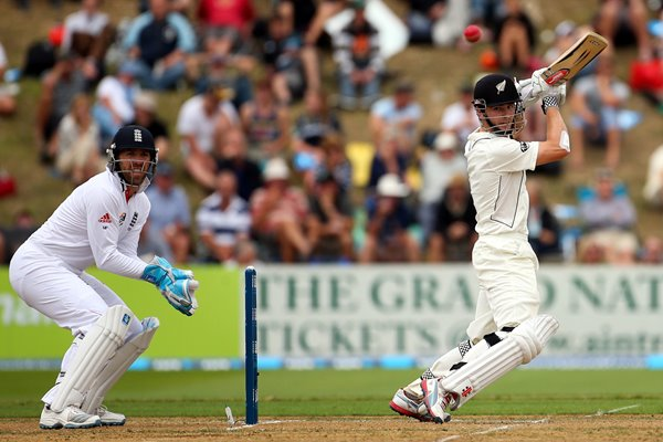 Kane Williamson and Matt Prior Wellington 2013