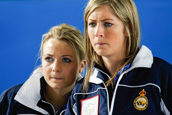 Eve Muirhead & Anna Sloan Scotland Curling Worlds Latvia 2013