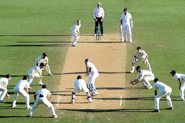 Monty Panesar faces all 11 New Zealand players Auckland 2013