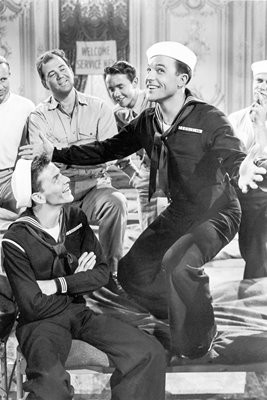 Gene Kelly And Frank Sinatra In 'Anchors Aweigh,' 1945.