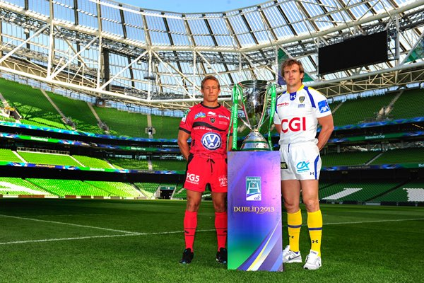 Heineken Cup Final 2013 captains - Wilkinson and Rougerie