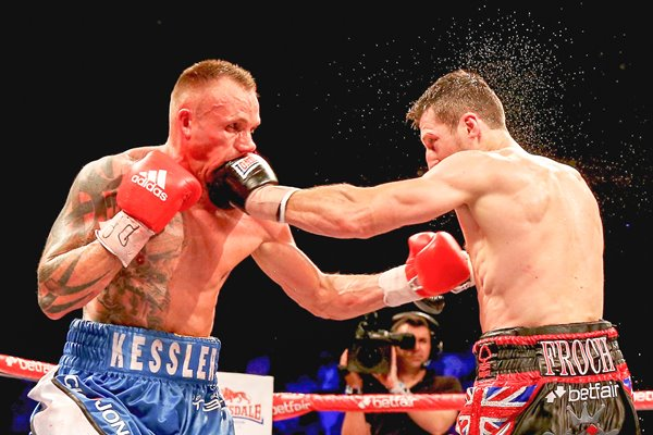 Carl Froch connects with Mikkel Kessler London 2013