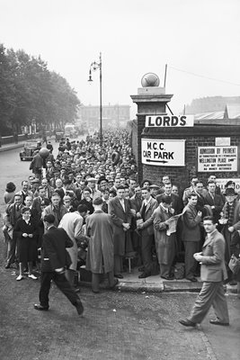 Spectators Queue At Lord's