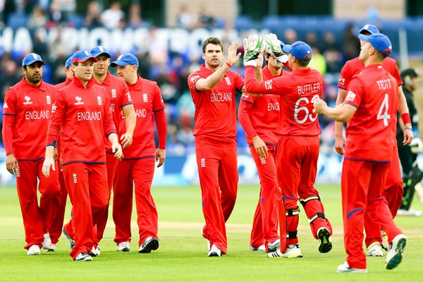 James Anderson and England celebrate Cardiff 2013