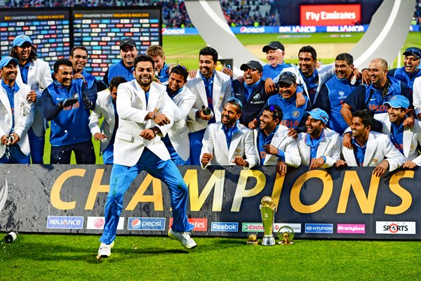 Virat Kohli and India ICC Champions Trophy Winners 2013