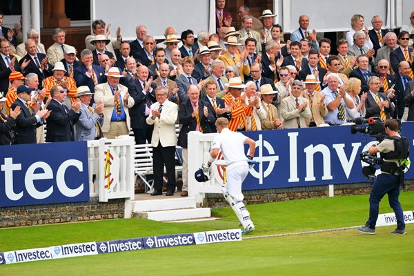 Joe Root celebrates Ashes Century Lord's 2013