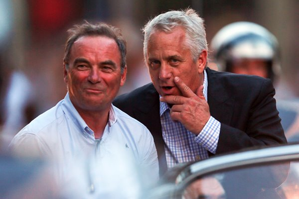 Tour legends Bernard Hinault and Greg Lemond Paris 2013