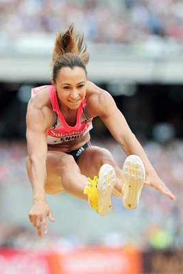 Jessica Ennis Long Jump Anniversary Games London 2013