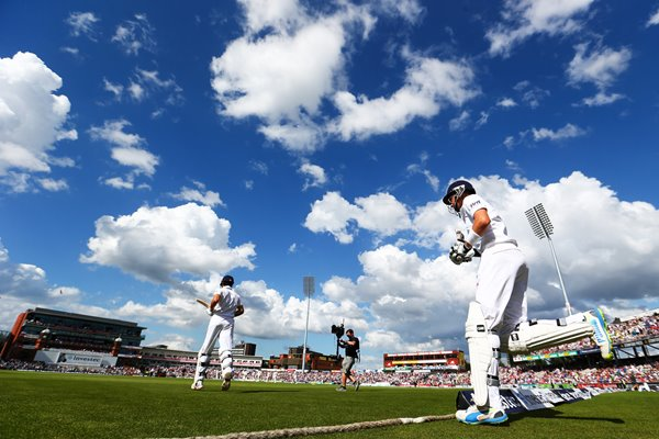 England openers walk out Old Trafford Ashes 2013