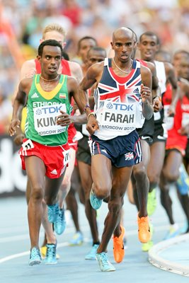 Mo Farah World 10,000m Final Moscow 2013