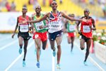 Mo Farah wins World 10,000m Final Moscow 2013 Prints
