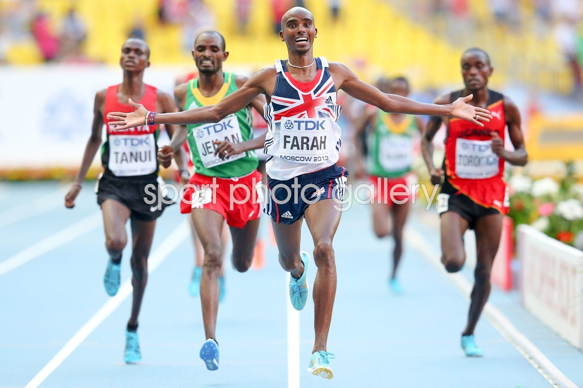 Mo Farah wins World 10,000m Final Moscow 2013