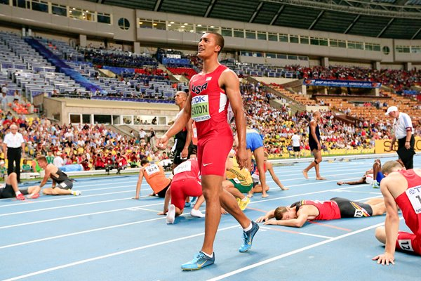 Ashton Eaton World Decathlon Champion Moscow 2013